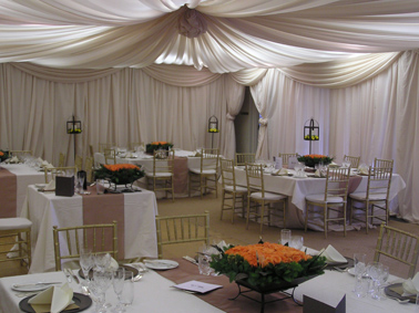 Cream Draping Conference Room
